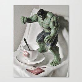 Green Hulk Cuppa Tea Canvas Print