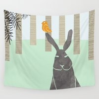 rabbit Wall Tapestries featuring Rabbit by Dream Of Forest