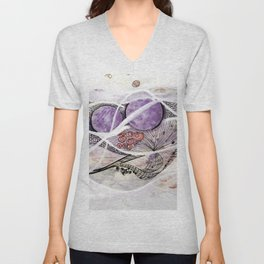 Space Planet Star Abstraction Art #2 Unisex V-Neck