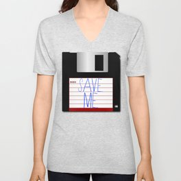 Message on the Floppy Unisex V-Neck