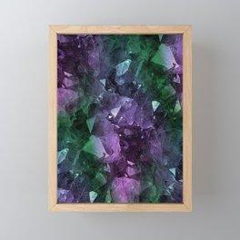 Crystal Geode Framed Mini Art Print