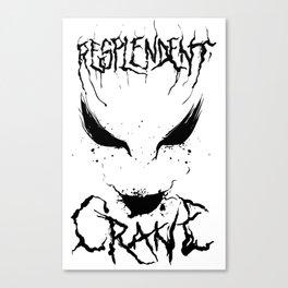 Resplendent Crane Canvas Print