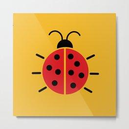 Ladybug orange Metal Print