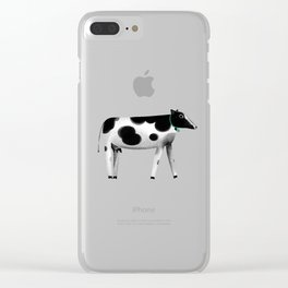 my lovely cow Clear iPhone Case