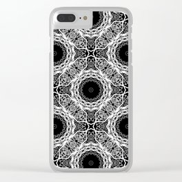 Black and white ornament . Clear iPhone Case