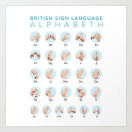 BSL Alphabeth Art Print