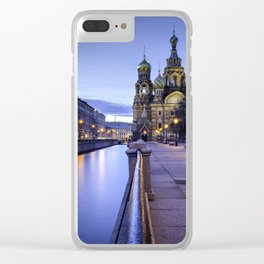 Saint Petersburg at Night Clear iPhone Case