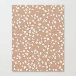 PEACH PEBBLES Canvas Print