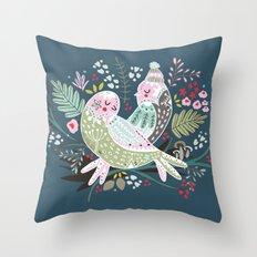 Holiday Birds Love Throw Pillow