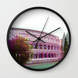 3d Colosseum  Wall Clock