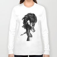 tattoo Long Sleeve T-shirts featuring Bear #3 by Jenny Liz Rome