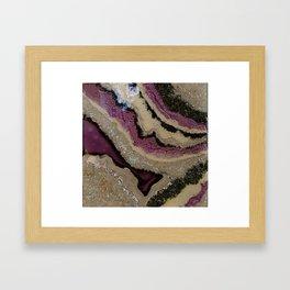 Purple Sparkle, geode resin artwork Framed Art Print