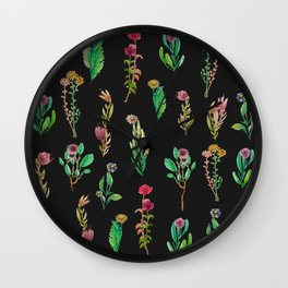 cute garden at nigth Wall Clock