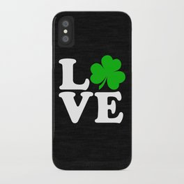 Love with Irish shamrock iPhone Case