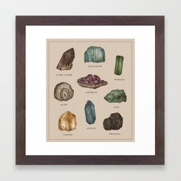 Gems and Minerals Framed Art Print