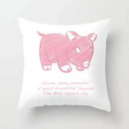 Boar Throw Pillow