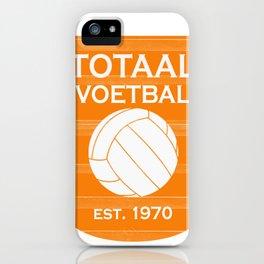 totaal voetbal est. 1970 iPhone Case