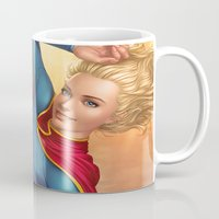 supergirl Mugs featuring Supergirl by kody