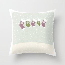 Christmas Socks Throw Pillow