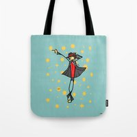 michael scott Tote Bags featuring Michael by Giuseppe Lentini
