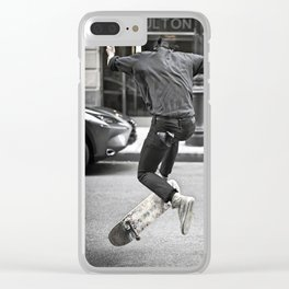 Mid-Air Skater Clear iPhone Case