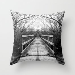 Mirrored Bridge Throw Pillow