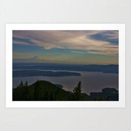 Mount Rainier and the Puget Sound Art Print