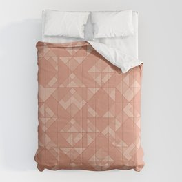 Copper Triangles Comforters