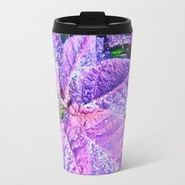 Poinsettia of Pink and Purple Travel Mug