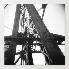 Kinzie Street Bridge 01- Chicago, Holga Canvas Print
