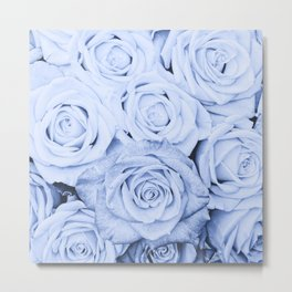 Some people grumble - Blue Rose, Floral Roses Flower Flowers on  #Society6 Metal Print