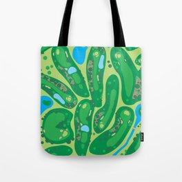 golf course par golf course green Tote Bag
