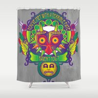 majora Shower Curtains featuring Majora Nouveau by Mareve Design