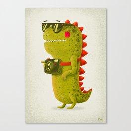Dino touristo (olive) Canvas Print