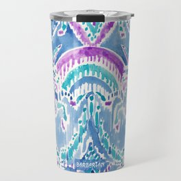 UNICORN DAYDREAMS Mythical Watercolor Tapestry Travel Mug