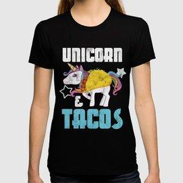 Unicorn And Tacos Cinco De Mayo Taco Mexico Chili Mexican Nachos Gift T-shirt