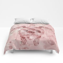 Glamour Turtle Rose Gold Comforters