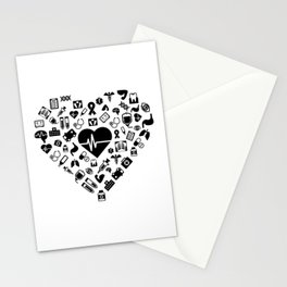 I Love First Aid | Doctor Nurse Heart Hospital Stationery Cards