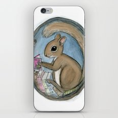 Sherman Squirrel Reads a Tale iPhone & iPod Skin