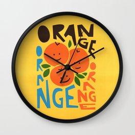 Orange A Tang Wall Clock