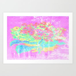 Distressed Hydrangea {pink} Art Print