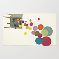 tv Area & Throw Rugs featuring Colour Television by Cassia Beck