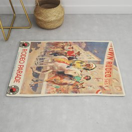 Vintage poster - Rodeo parade Rug