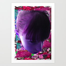 GIRL COLLAGE Art Print