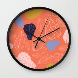 A Couple Loose Leaves Wall Clock