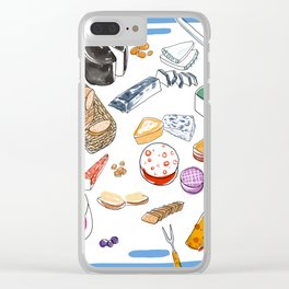 Cheese plate Clear iPhone Case