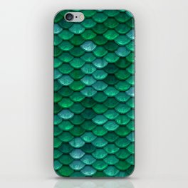 Green Penny Scales iPhone Skin