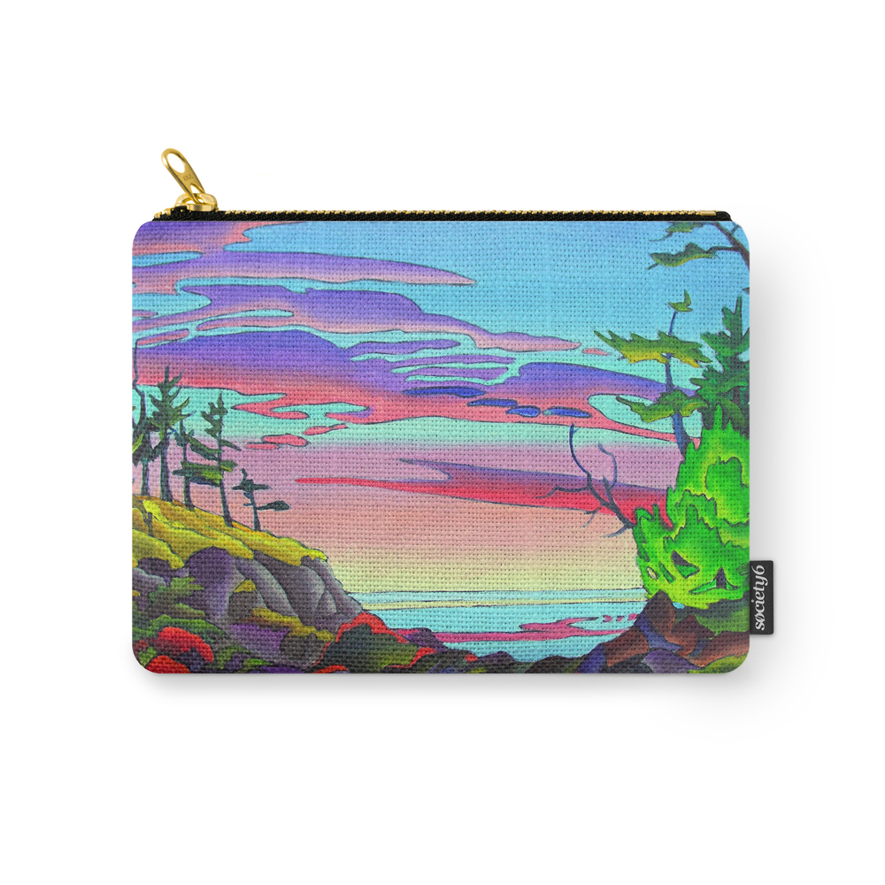 Pacific Pacific by Amanda Martinson Carry-All Pouch by crystalmagicdesigns