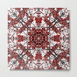 Strawberry red jam pattern Metal Print