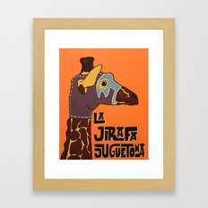 Luchamals Series- La Jirafa Juguetona Framed Art Print